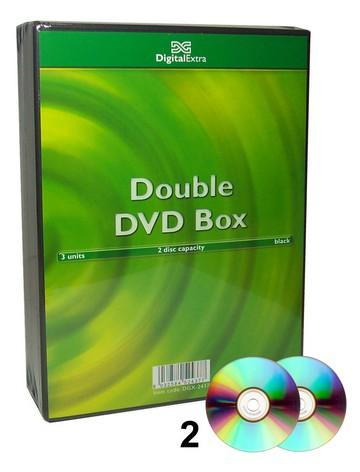 CD DVD CUSTODIA NERA 2 3pz