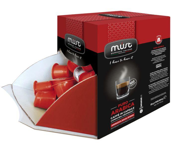 CAFFE CAPSULE NP 100pz ARABICA PURA - (compatibile Nespresso)