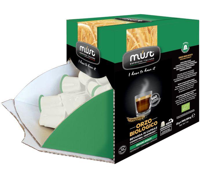 CAFFE CAPSULE NP 100pz BIOLOGICO ORZO BIO COMPOSTABILE - (compatibile Nespresso)