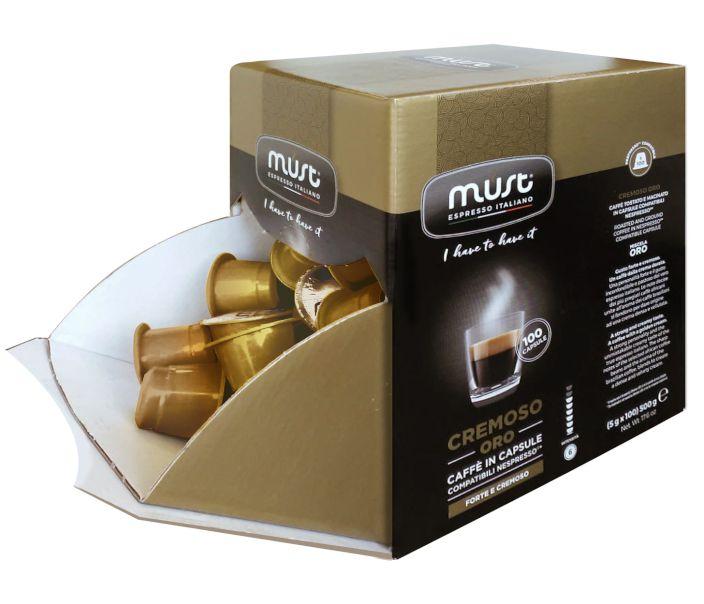 CAFFE CAPSULE NP 100pz CREMOSO - (compatibile Nespresso)
