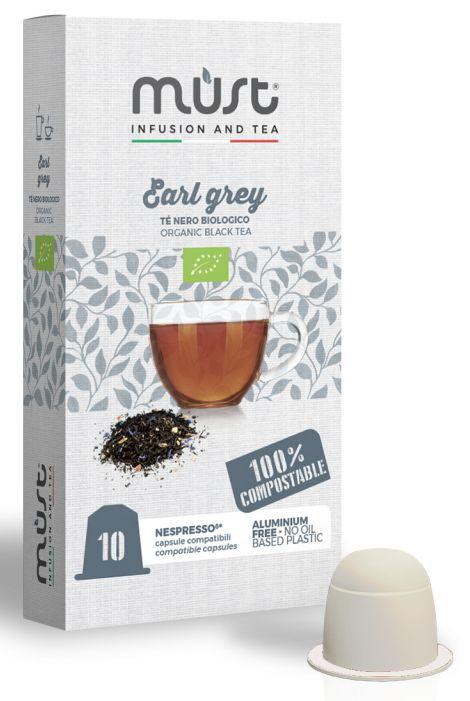 TE CAPSULE NP 10pz BIOLOGICO EARL GREY - (compatibile Nespresso) COMPOSTABILE