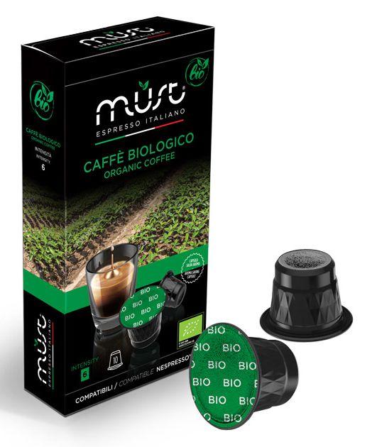 CAFFE CAPSULE NP 10pz BIOLOGICO - (compatibile Nespresso)