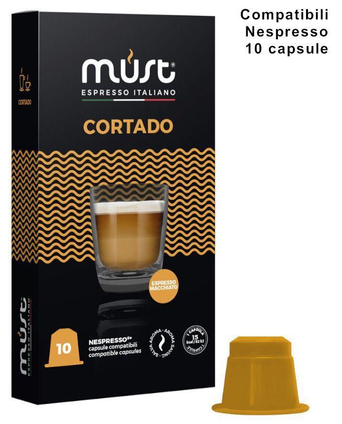 CAFFE CAPSULE NP 10pz CORTADO - (compatibile Nespresso)