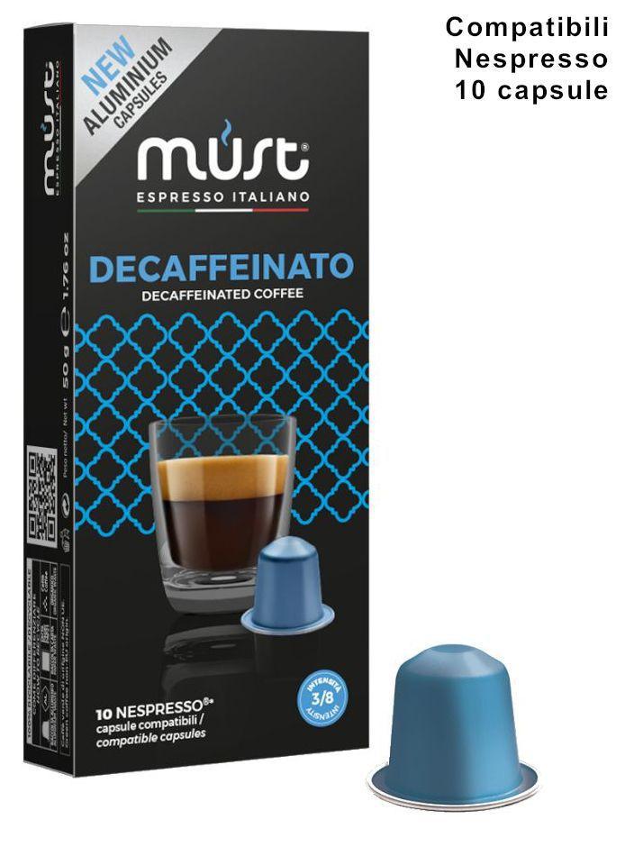 CAFFE CAPSULE NP 10pz DECAFFEINATO ALU - (compatibile Nespresso)