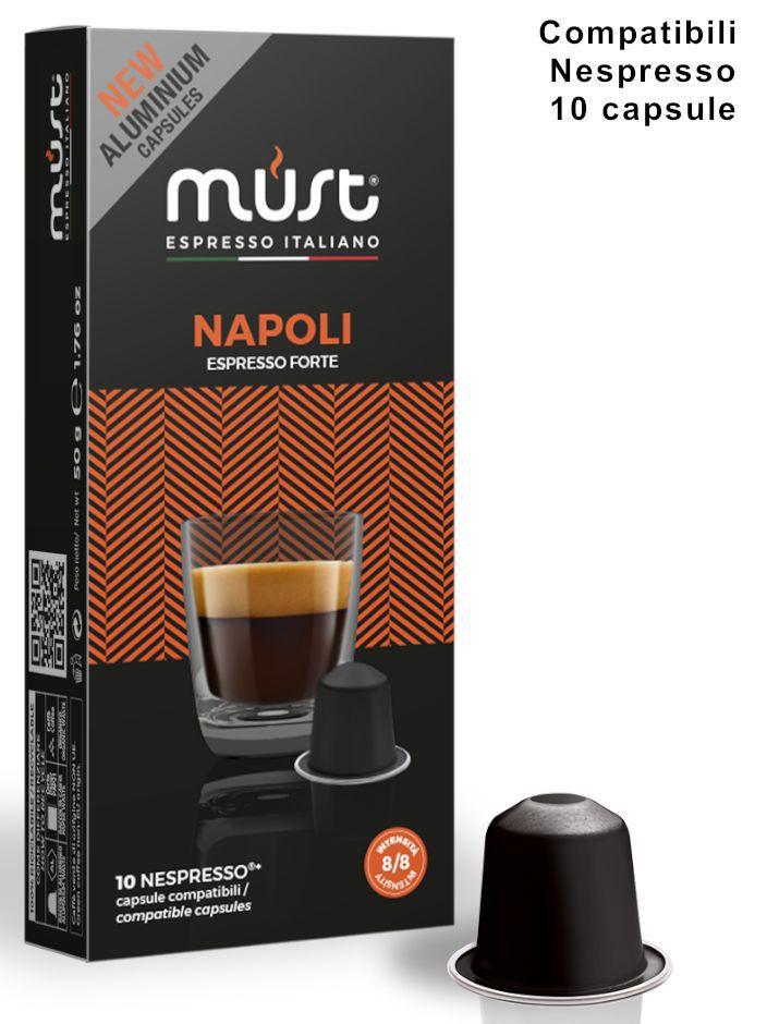 CAFFE CAPSULE NP 10pz NAPOLI ALU - (compatibile Nespresso)