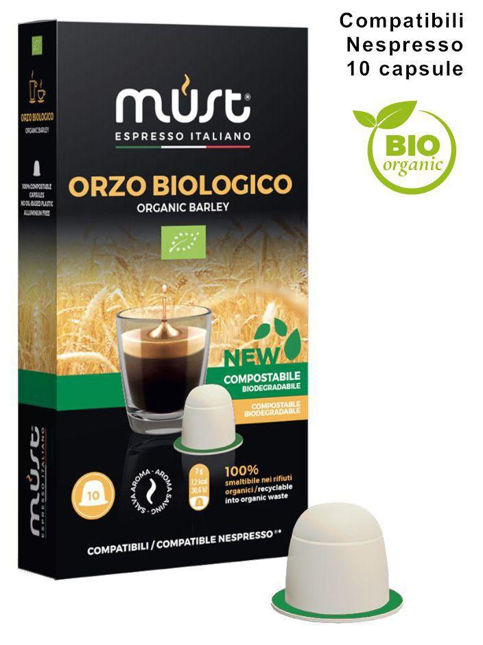 CAFFE CAPSULE NP 10pz BIOLOGICO ORZO BIO COMPOSTABILE - (compatibile Nespresso)