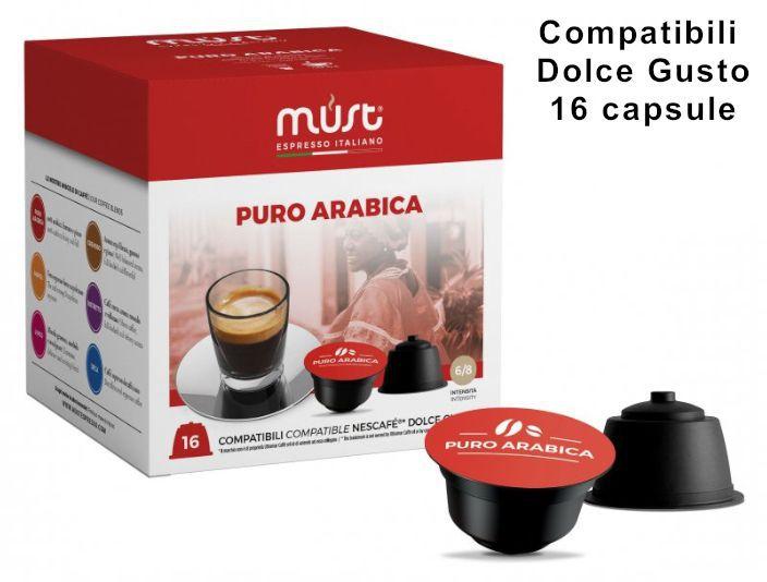 CAFFE CAPSULE DG 16pz ARABICA PURA - (compatibile Dolce Gusto)