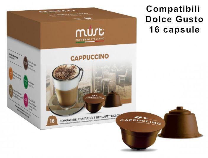 CAFFE CAPSULE DG 16pz CAPPUCCINO - (compatibile Dolce Gusto)