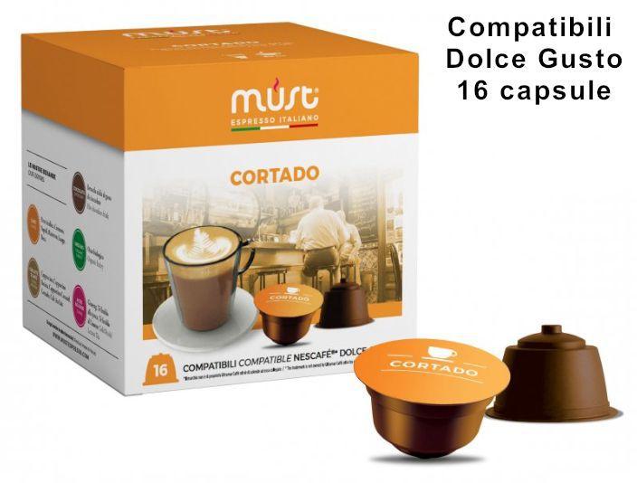 CAFFE CAPSULE DG 16pz CORTADO - (compatibile Dolce Gusto)