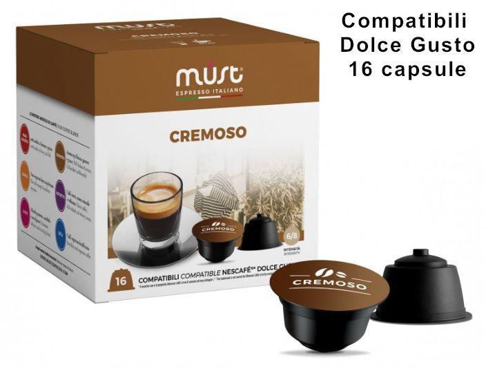 CAFFE CAPSULE DG 16pz CREMOSO - (compatibile Dolce Gusto)