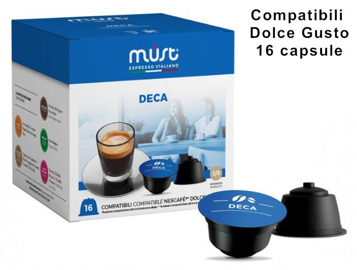 CAFFE CAPSULE DG 16pz DECAFFEIANTO - (compatibile Dolce Gusto)