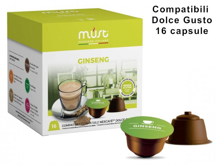 CAFFE CAPSULE DG 16pz GINSENG - (compatibile Dolce Gusto)