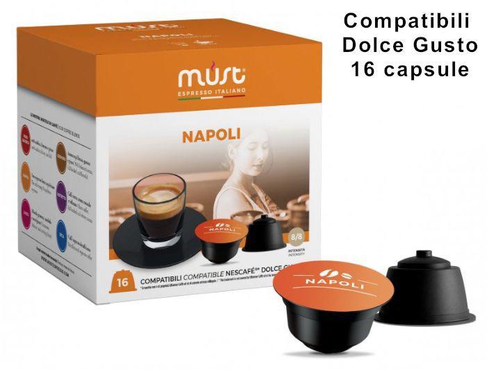 CAFFE CAPSULE DG 16pz NAPOLI - (compatibile Dolce Gusto)