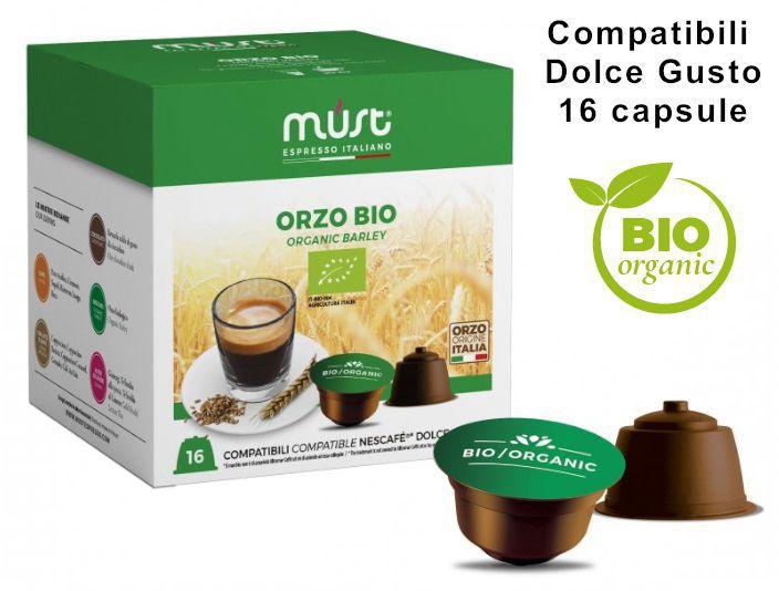 CAFFE CAPSULE DG 16pz ORZO BIOLOGICO BARLEY ORG. - (compatibile Dolce Gusto)