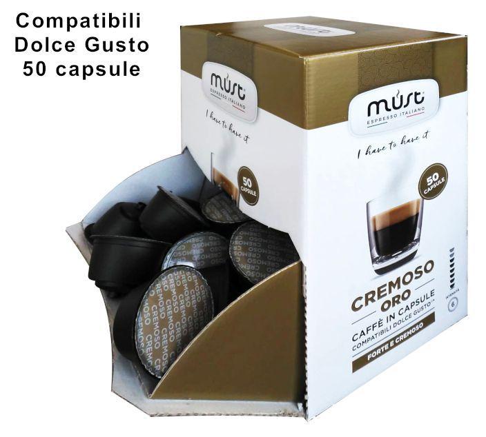 CAFFE CAPSULE DG 50pz CREMOSO - (compatibile Dolce Gusto)