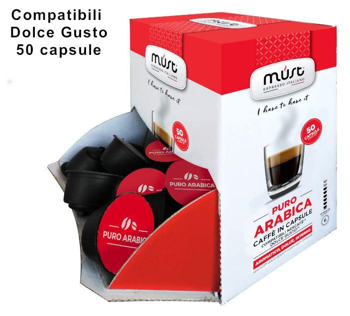 CAFFE CAPSULE DG 50pz ARABICA PURA - (compatibile Dolce Gusto)