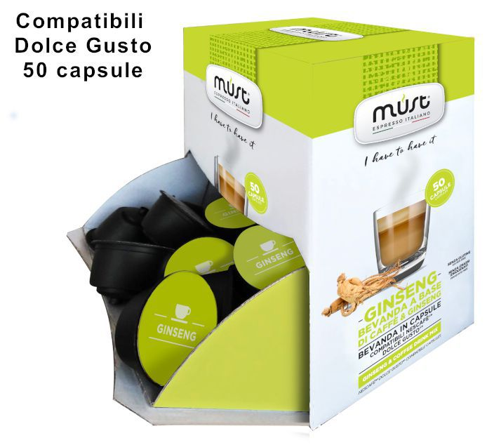 CAFFE CAPSULE DG 50pz GINSENG - (compatibile Dolce Gusto)