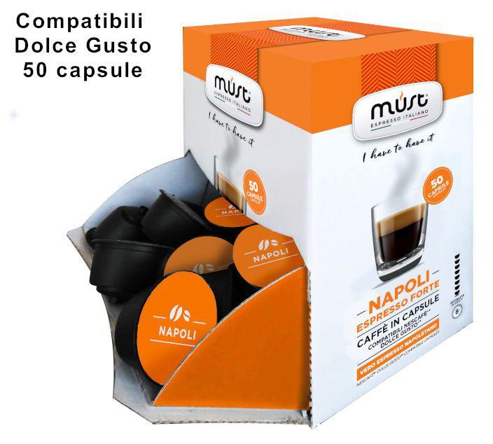 CAFFE CAPSULE DG 50pz NAPOLI - (compatibile Dolce Gusto)