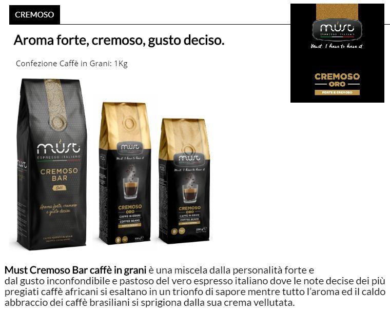 CAFFE TOSTATO GRANI MUST 1000gr 1pz - CREMOSO