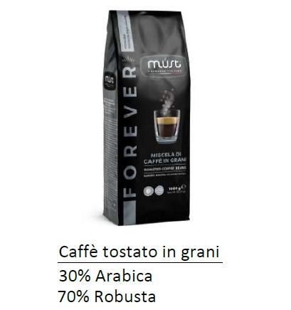 CAFFE TOSTATO GRANI MUST 1000gr 1pz - FOREVER