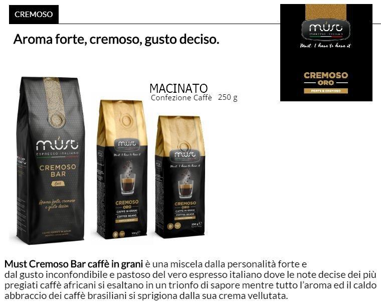CAFFE MACINATO MUST 250gr 1pz - CREMOSO