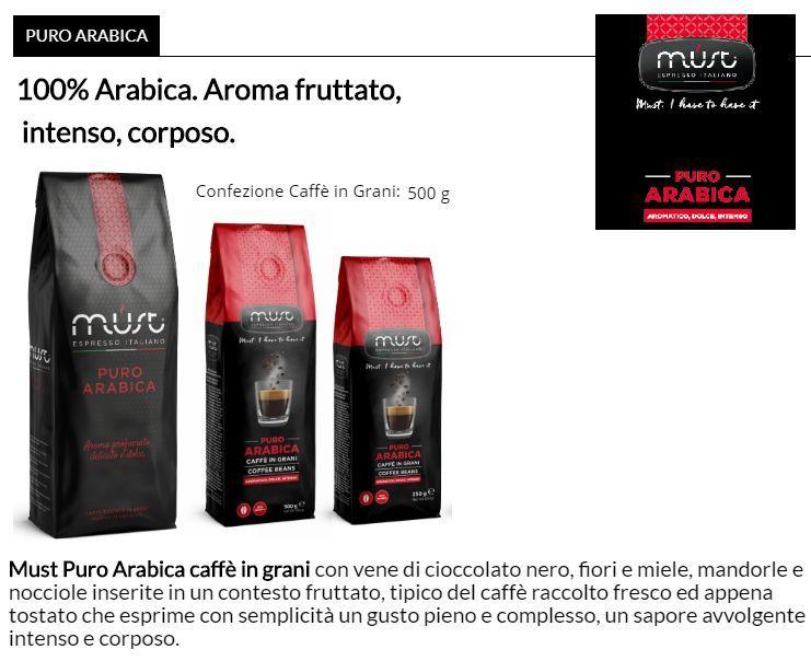 CAFFE TOSTATO GRANI MUST 500gr 1pz - ARABICA PURA