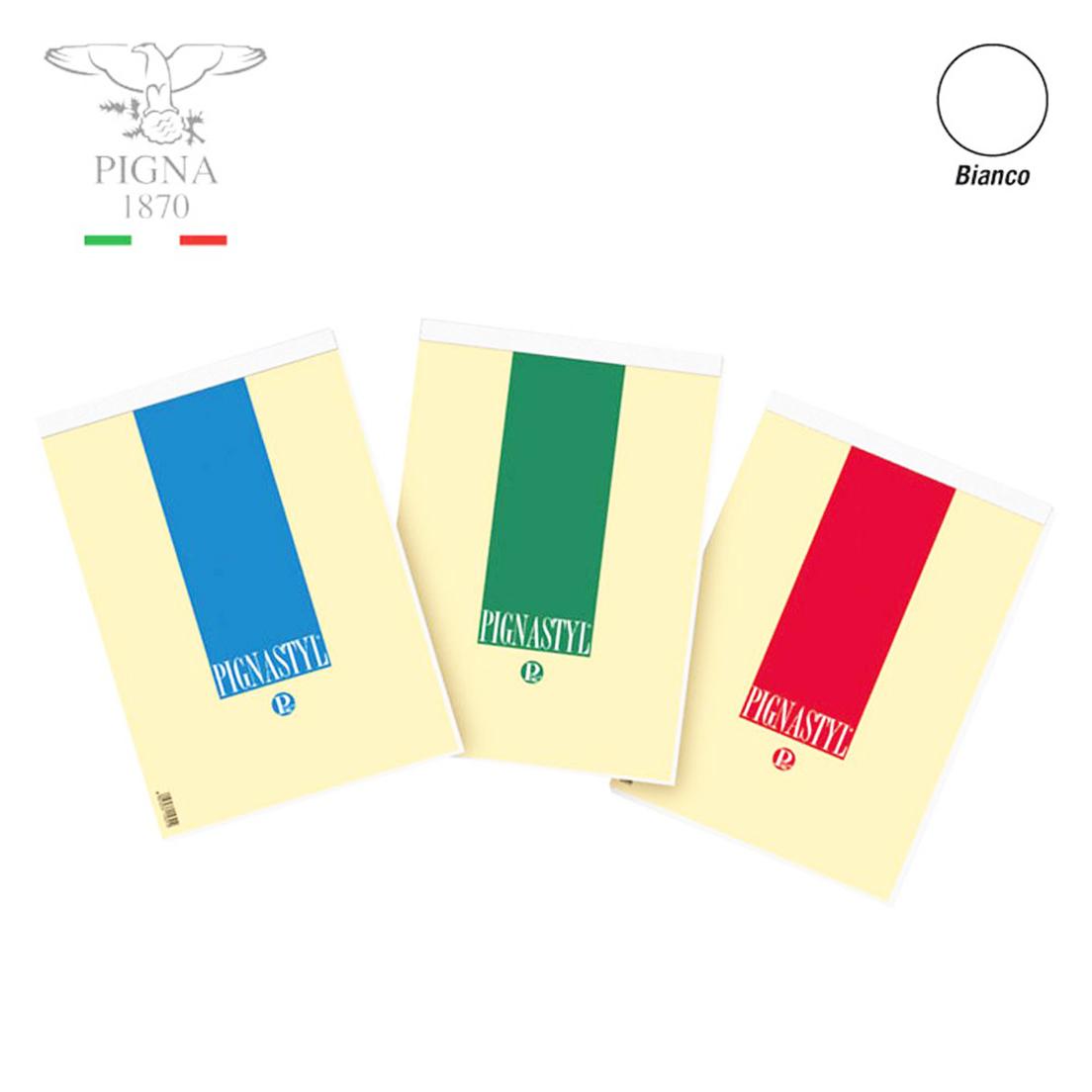 BLOCCO NOTES A5 15x21cm BIANCO 10pz PIGNA