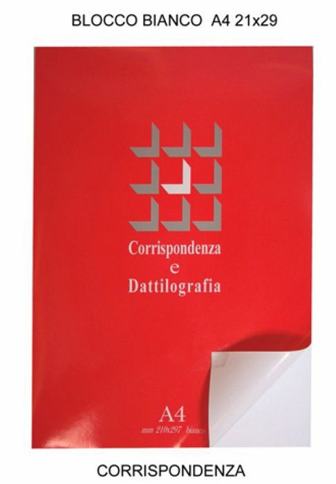BLOCCO NOTES A4 21x29cm COLLATO 50 FOGLI 60g 10pz CORRISPONDENZA