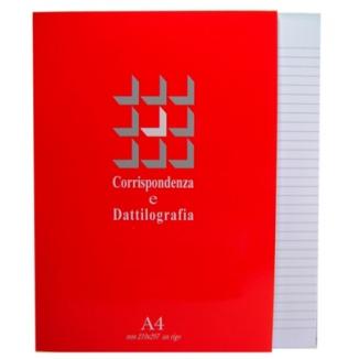 BLOCCO NOTES A4 21x29cm COLLATO 1R 50 FOGLI 60g 10pz CORRISPONDENZA