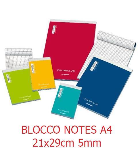 BLOCCO NOTES A4 21x29cm 5mm 10pz - 7132