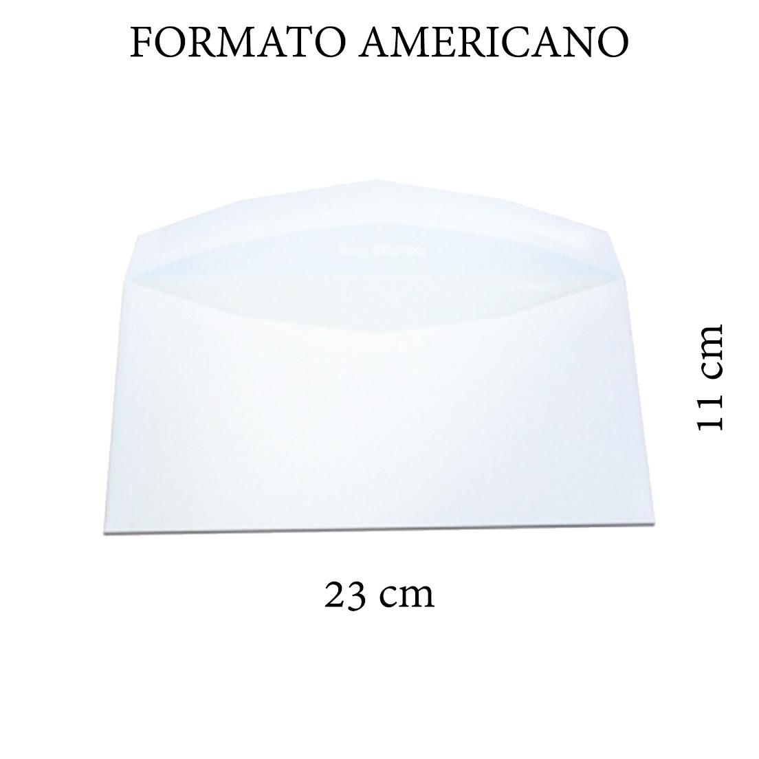 BUSTA LETTERA 11x23cm 80g FORMATO AMERICANO SENZA FINESTRA 500pz BIANCA