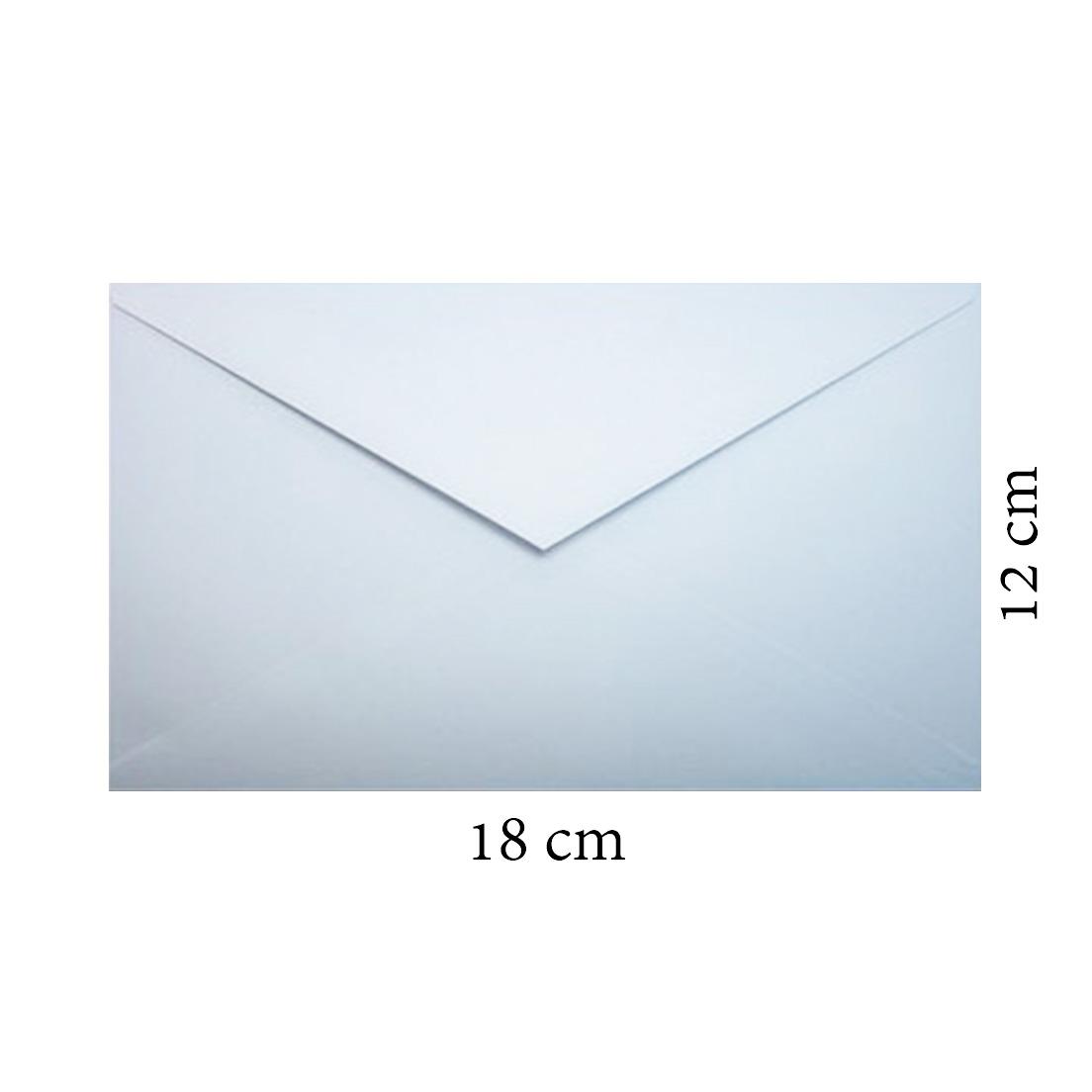 BUSTA LETTERA 12x18cm 70g SENZA FINESTRA 500pz BIANCA - 0014