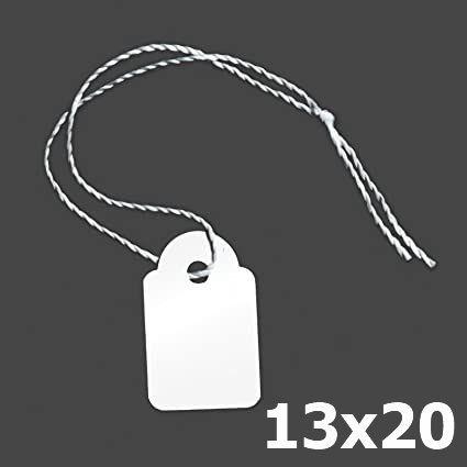 ETICHETTE CON FILO 1000pz 13x20mm