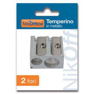 TEMPERINI METALLO 2 FORI 1pz BLISTERATO