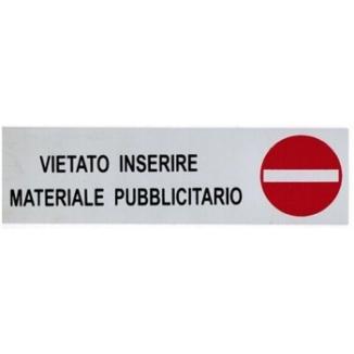 TARGA ADESIVE 4X15 ARGENTO NO PUBBLICITA' 1pz
