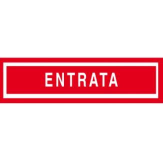 TARGA ADESIVE 4X15 ROSSE TARGAFIX ENTRATA 1pz