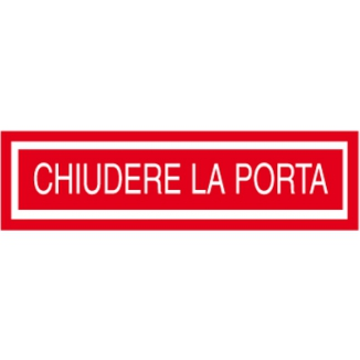 TARGA ADESIVE 4X15 ROSSE TARGAFIX CHIUDERE LA PORTA 1pz