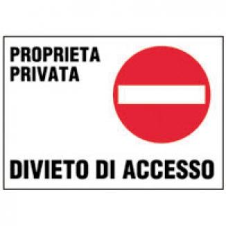 TARGA ACCESSO VIETATO PROPR. PRIVATA 25X35 1pz