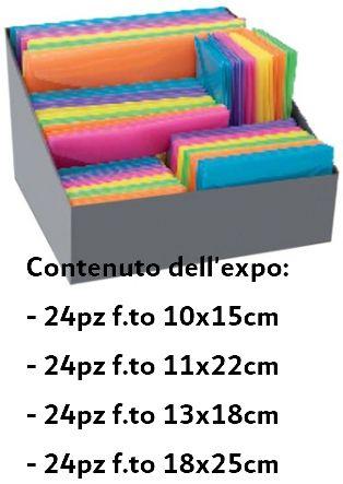 BUSTA CON BOTTONE EXPO 120pz MISURE ASSORTITE