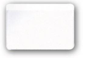 PORTA CARDS MORBIDO 1POSTO 100pz CRISTAL SATINATO 9,8x6,4cm