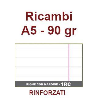 RICAMBI 15X21 A5 1R 90gr RINFORZATI C/MARGINE