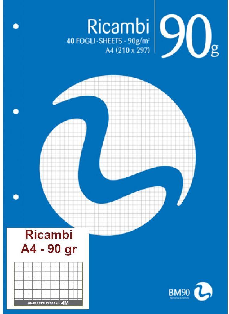 RICAMBI 21X29 A4 4mm 90gr