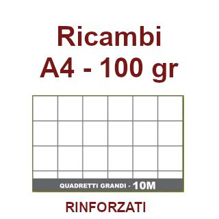 RICAMBI 21X29 A4 10mm 100gr RINFORZATI 40f