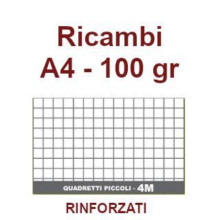 RICAMBI 21X29 A4 4mm 100gr RINFORZATI PVC 40f