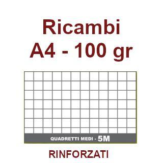 RICAMBI 21X29 A4 5mm 100gr RINFORZATI 40f