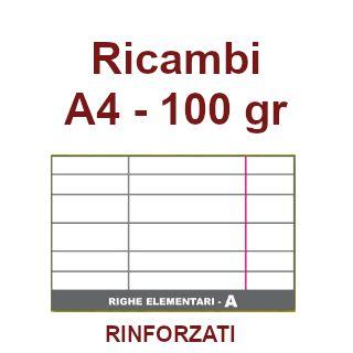 RICAMBI 21x29 A4 RA 100g RINFORZATI 40f