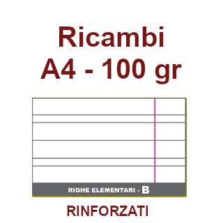 RICAMBI 21X29 A4 RB 100gr RINFORZATI 40f