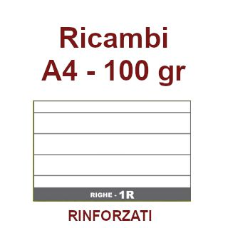 RICAMBI 21X29 A4 1R 100gr RINFORZATI 40f