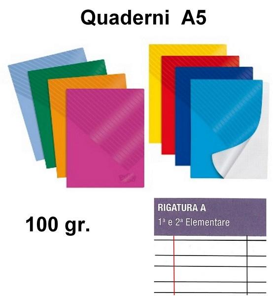 QUADERNI MINI TINTA UNITA A rig 100gr - 10pz 15X21 A5