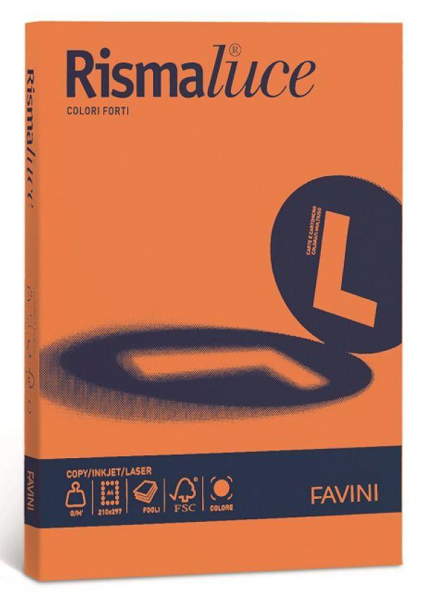 CARTA A4 21x29 200g 125fg 1pz RISMALUCE ARANCIONE FAVINI